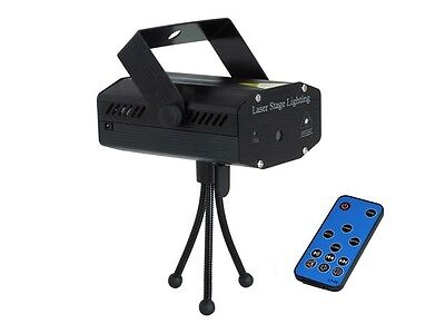 Mini LED Laser Projector Stage Lighting Effect Patterns Disco Party with Remote
