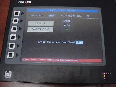 Red Lion Model G308 PT# G308A000 Touch Screen Display