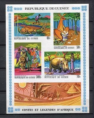 27445) GUINEA 1968 MNH** Nuovi** Legends Imperf. ND S/S BF