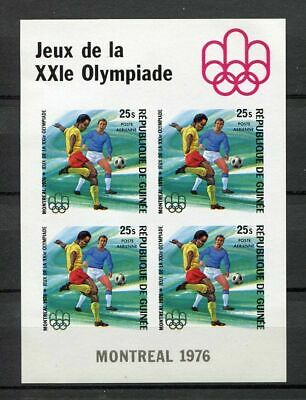27447) GUINEA 1976 MNH** Nuovi** Olympic G. Football S/S BF