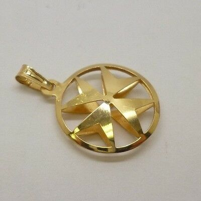 Gorgeous 14ct Yellow Gold Maltese Cross Pendant & Matching Drop Dangle Earrings