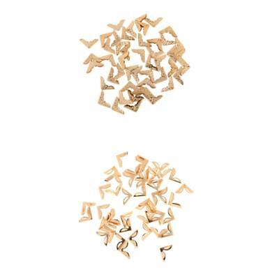 50pcs/pack Antique Gold Metal Corner Protectors for Book Angle Photo Frame