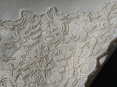 Vtg French Alencon Figural Pegasus Lace Napkins Winged Horse Hemstitch set 7