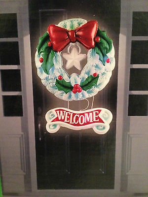 Lighted Christmas Wreath Silica Wall  Door Hanging LED Color Changing Battery