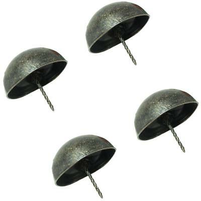4xBRONZE CRAFTS FURNITURE UPHOLSTERY NAILS STUDS TACKS WOOD CHEST DECOR 80MM
