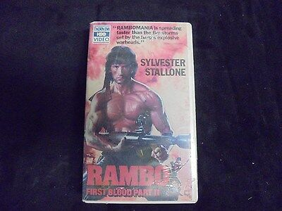 "USED VHS Movie ""Rambo"" Forst Blood Part II (G)"