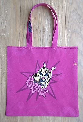 Bright Pink Bratz Childrens Cotton Shopping bag / Book bag