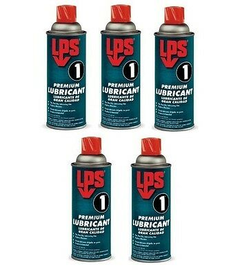 LPS 1® 00116 - Greaseless Lubricant 11oz Aerosol Can, Pale Amber - Pack of 5
