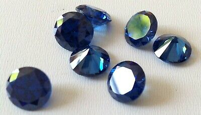 Blue Sapphire Cubic Zirconia 1-10mm Loose Lots Round CZ Wholesale Lots-USA-AAA