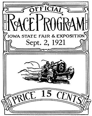 Program Auto Racing The Action Track Terre Haute Fairgrounds114411