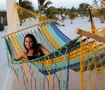 Sunnydaze American Style Handwoven Mayan Single Person Hammock with Spreader Bar