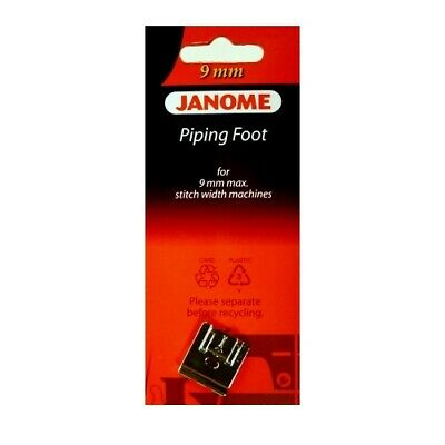 Janome 9mm Piping Foot - Perfect for Pipe, Cording, Drawstrings Quilt I Horizon