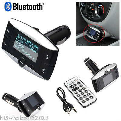 "1.5"" LCD Car Kit Bluetooth MP3 Player SD MMC USB Remote Auto FM Transmitter AUX"