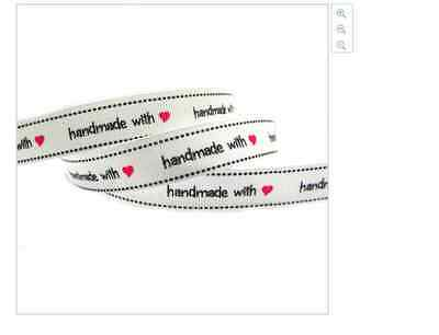 Handmade with Love ribbon for cake decorating or scrapbooking 1m 16mm wide