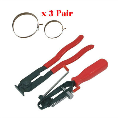 2Pc CV Joint Clamp Banding Tool Ear Type Boot Clamp Pliers & 3 Set Of Clamps