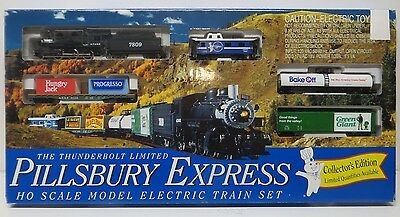 Thunderbolt Limited Pillsbury Express Model Electric Train Set Ho scale