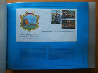 Royal Silver Jubilee Official Commonwealth Society First Day Covers In Folder