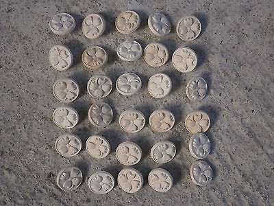 Antique Vintage Verry Rare Ceramic Buttons 30 Pieces Ready For Painting