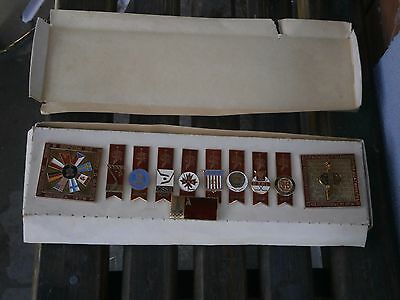 Vintage Rare Antique Set Badge Badges From Olympics 1979 Year
