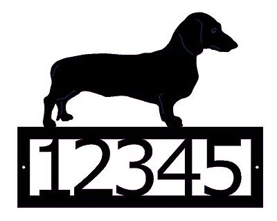 Dachshund Custom address sign steel metal art yard house home street