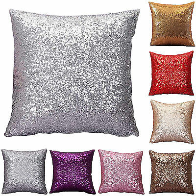 SUP Mermaid Pillow Sequin Cover Glitter Sofa Waist Throw Cushion Case Home Decor
