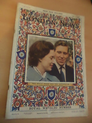 ILLUSTRATED LONDON NEWS MAGAZINE OLD VINTAGE 14 may 1960 princess margaret wed