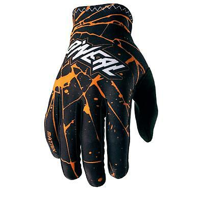 O'Neal Matrix Handschuhe Enigma Schwarz Orange Glove DH FR MTB BMX Mountain Bike