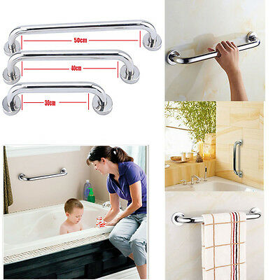 Stainless Steel Disability Aid Support Tower Handle Grab Bar Hold Rail Shelves