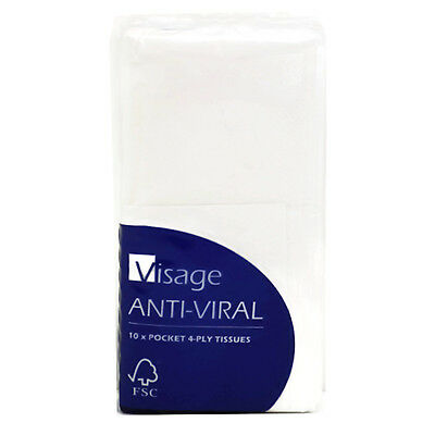 Visage Anti-Viral 4-Ply Tissues FSC Approved (10 Sheets)