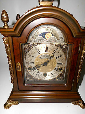 rare 4/4  WESTMINSTER  WARMINK  MANTLE BRACKET CLOCK WUBA working