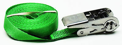 Stainless Steel 316 Ratchet Green 7m x 25mm Endless Strap 700KG: Trailer, Boats