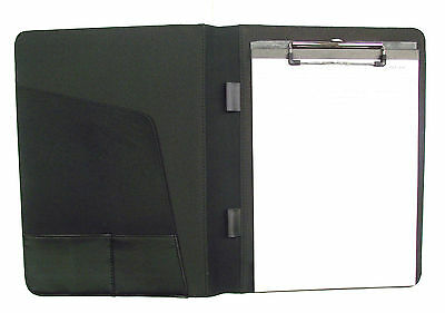 Black  A4 Conference Folder with clipboard 600D Polyester  (10650)