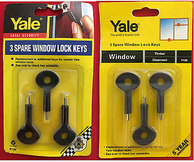 Yale P130 Spare Window Lock Keys Hexagon (Hex) Key - Pack Of 3
