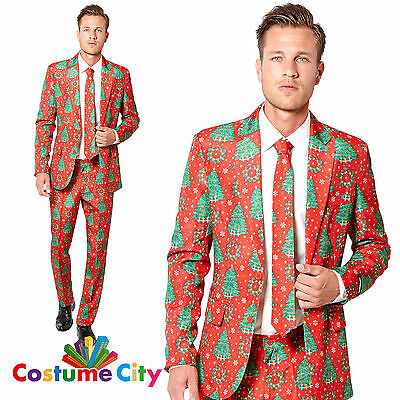 Adult Mens Suitmeister Christmas Trees Party Suit Fancy Dress Costume Outfit