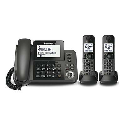Panasonic Corded/cordless Phone With 2 Handsets & Answering System - Black