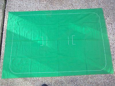 Subbuteo Cricket Baize Pitch **good Used Condition**