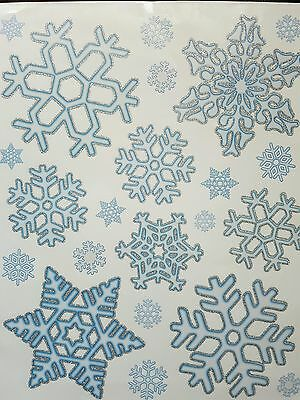 20 x Snowflake Window Clings Reusable Stickers Christmas Decorations Decal Xmas