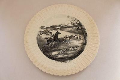 Royal Cauldon Fox Hunting Scene Monochrome Plate 'In Full Cry'