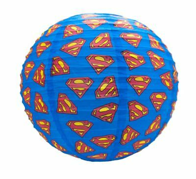 Official Dc Comics Superman Paper Round Light Shade Lamp Shade Lightshade