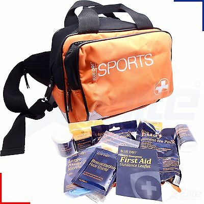Blue Dot Essential Sports First Aid Kit Small Orange Bag Holdall