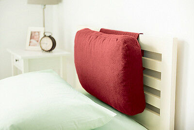 Wine Wool Feel Fabric Headboard Cushion Bed Rest Head Board Neck Support Cushion