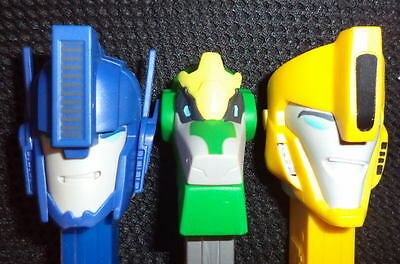 NEW 2016 -TRANSFORMERS SET OF 3 PEZ mint loose