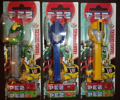 New 2016 -Transformers Set Of 3 Pez Moc