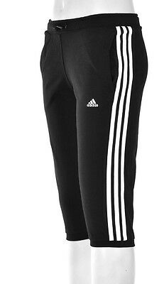 Adidas Girls Essentials 3/4 Trousers Black/white 4-5 Years
