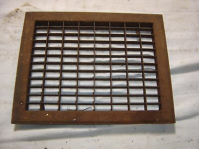 Antique Steel Floor Furnace Register shows rust. 8080