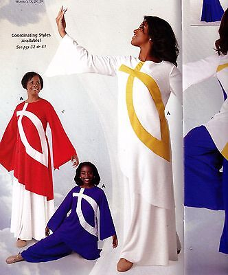 NWT child/ladies Praisewear Dance Liturgical Bell Sleeve Tunic 3 Color Choices