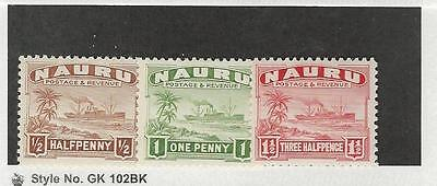 Nauru, British, Postage Stamp, #17-19a Mint Hinged, 1924
