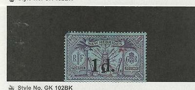 New Hebrides, British, Postage Stamp, #28 Mint Hinged Missing Perf, 1920