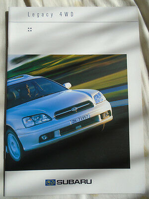 Subaru Legacy 4WD 2.0 & 2.5 range brochure Sep 2000 Swiss market multi text