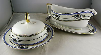2 Pieces Heinrich & Co. Selb Bavaria China - Muffin w/Lid, Gravy/Under Plate